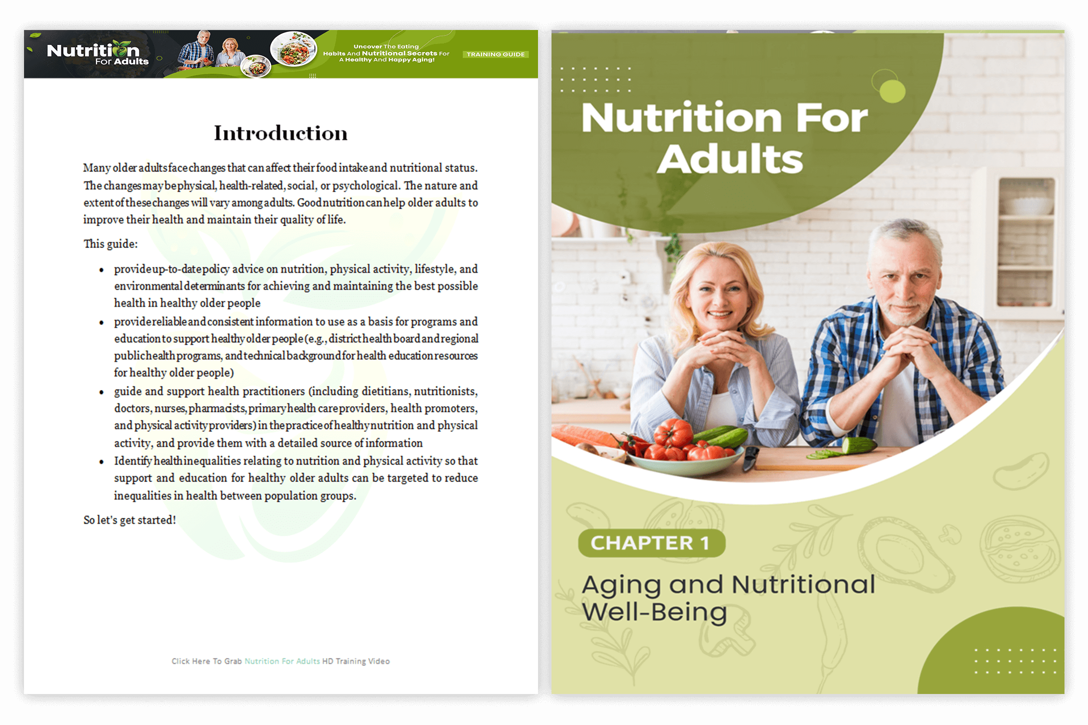 Module 1 Nutrition For Adults PLR